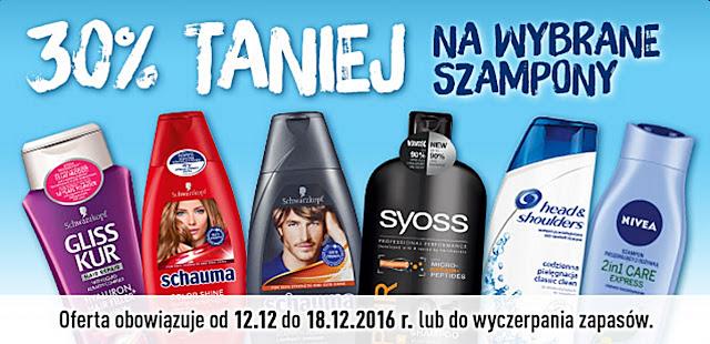30% taniej na wybrane szampony w Biedronce!