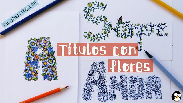 cómo hacer títulos para decorar apuntes, cuadernos, libretas, agendas. Lettering, Doodling. Nica Bernita