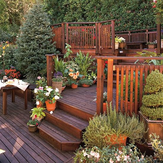 Decked Garden Ideas: Idées De Jardin Sur Une Pente