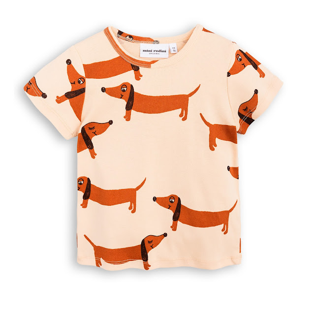 Mini Rodini Dog T.Shirt Beige