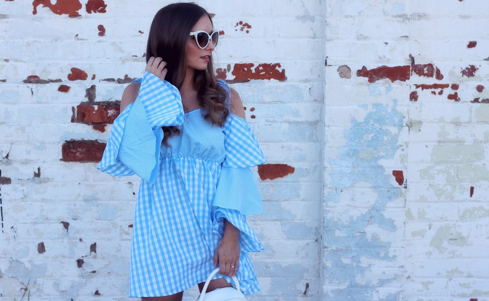 Boohoo Blue Gingham Dress