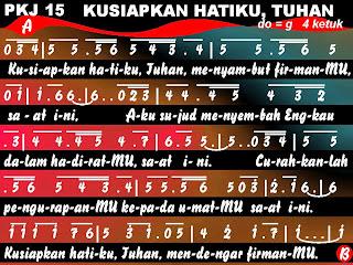 Kord Gitar Lagu PKJ 15 Kusiapkan Hatiku Tuhan