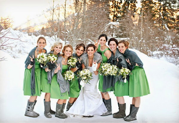 22fb97cbf22 There are also some brides want their winter weddings without Christmas  influence.Why not try some sparkling gold bridesmaid dresses for a dazzling  look.