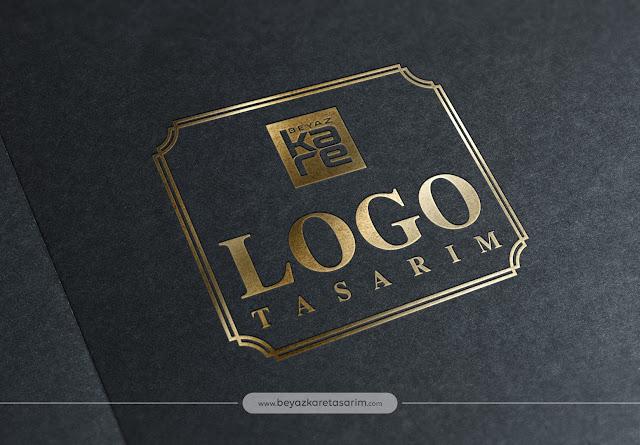 3D logo tasarımı kağıt gold yazı