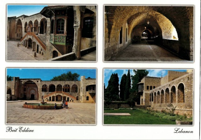 Incoming postcard received from Lebanon