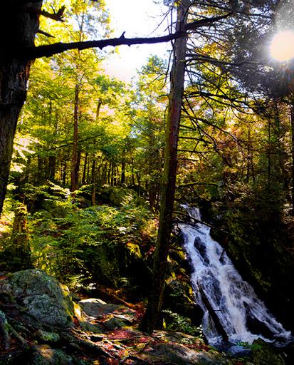 Buttermilk Falls, The Mattatuck Blue Trail, Terryville CT