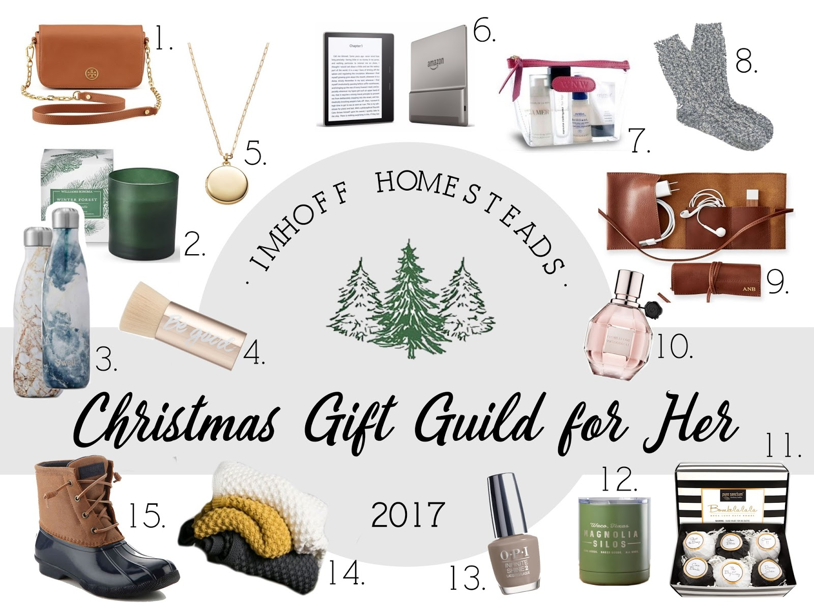 imhoff homesteads christmas gift guide for her 2017