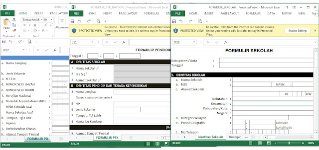 Dowload Formulir  Sekolah, Formulir PTK,Formulir Siswa di Aplikasi Dapodik 2018