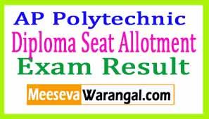 AP Polytechnic Diploma (Polycet) Allotment 2017