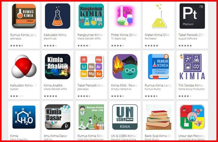 20 Aplikasi Kimia untuk Pembelajaran Sekolah [Download]
