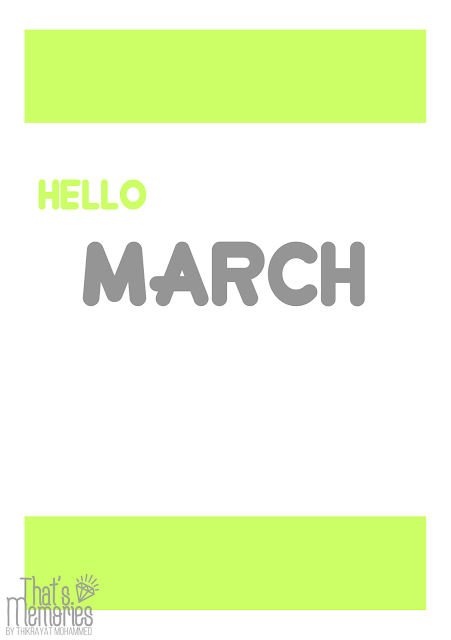 Free printable march monthly planner A5 بلانر مجاني