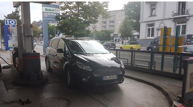 Posto Shell em Frankfurt