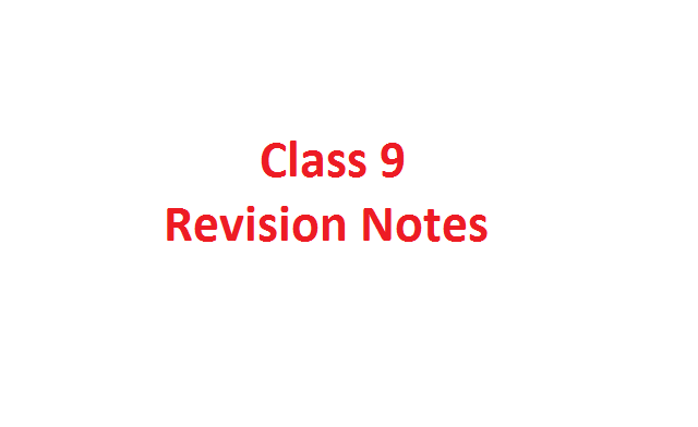Cbse Class Notes