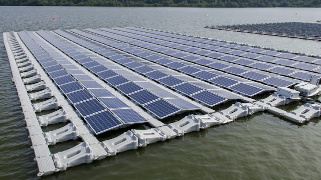 floating photovoltaic plant on Banja