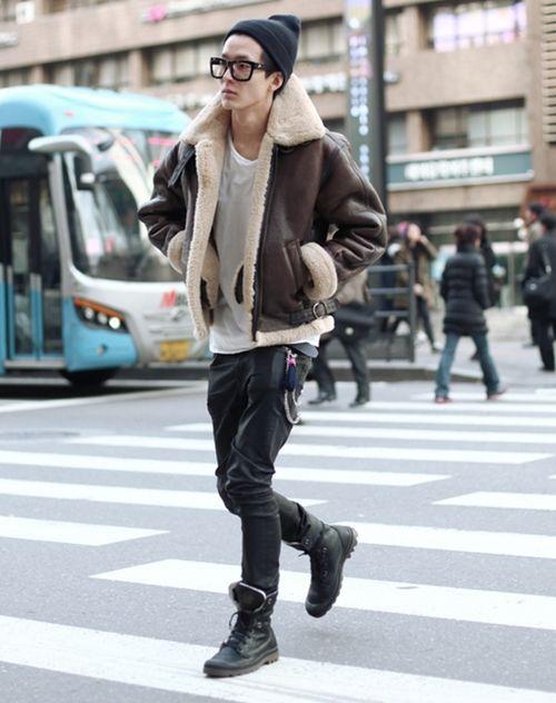 look masculino com jaqueta