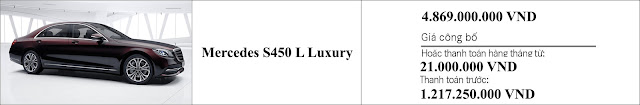Giá xe Mercedes S450 L Luxury 2019