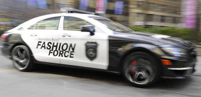 mercedes-benz fashion week police