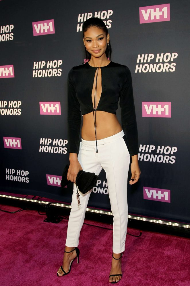 Chanel Iman flaunts taut physique at the VH1 Hip Hop Honors in NYC