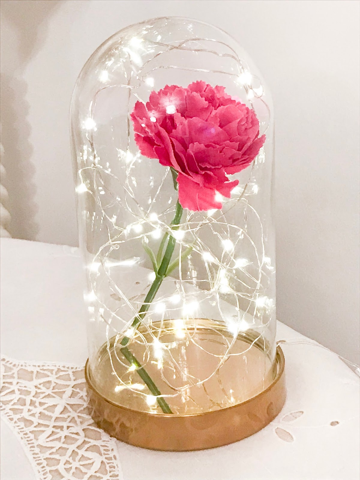 How to make diy beauty the beast inspired bell jar for under 10 how to make diy beauty the beast bell jar for under 10 izmirmasajfo