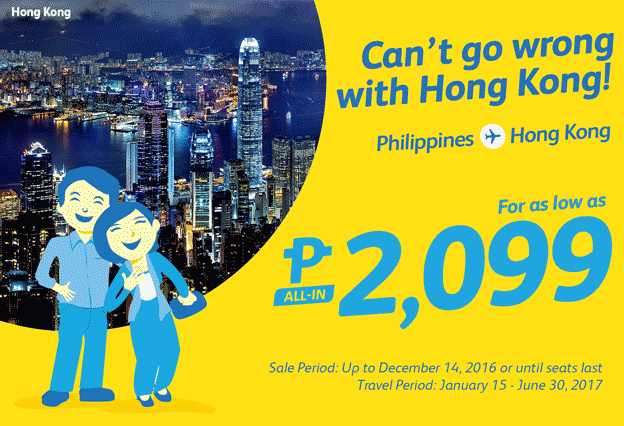 Cebu Pacific Promo Hong Kong 2017