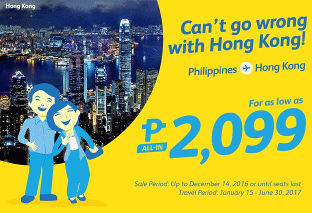 Cebu Pacific Promo Hong Kong 2017
