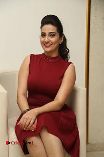 Telugu Tollywood Anchor Manjusha Pos in Red Short Dress  0071.JPG