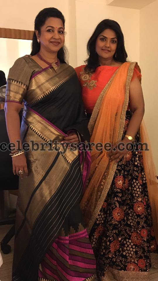 Radhika and Nirosha's Traditional Attire