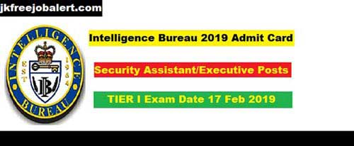 MHA IB 2019 Security Assistant