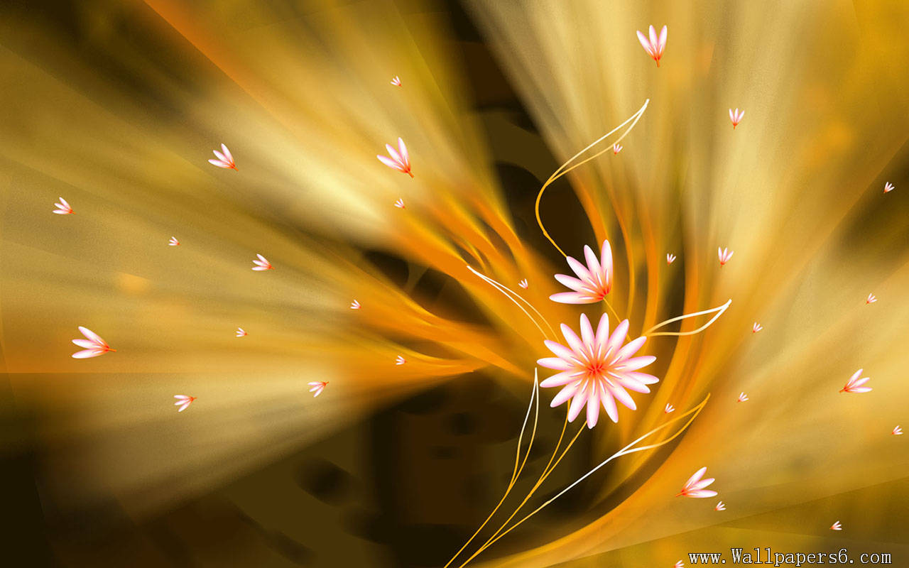 AMAZING WALLPAPER: golden flower