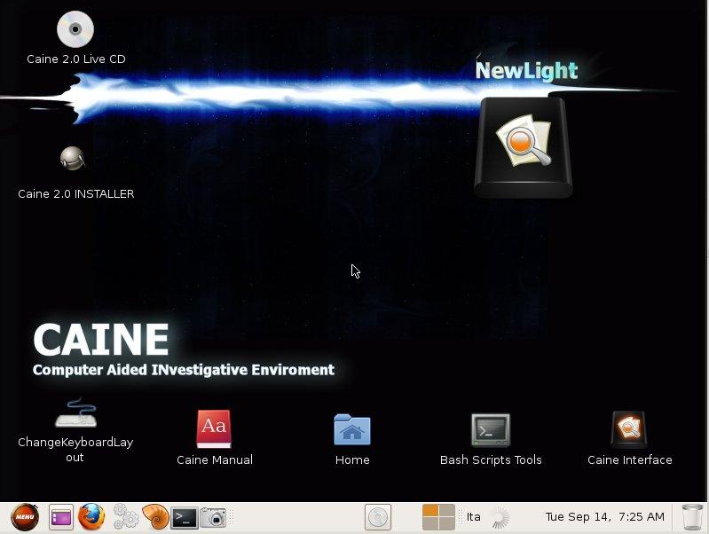 معلومات حول التوزيعة CAINE OS