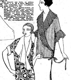 The Vintage Pattern Files: Free 1920's Sewing Pattern - An Elegant Blouse & Bralette