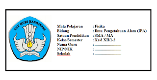 Download  SK KD, PEMETAAN SK KD, RPP, SILABUS, PROMES, PROTA,KKM FISIKA Kelas 10, 11, 12