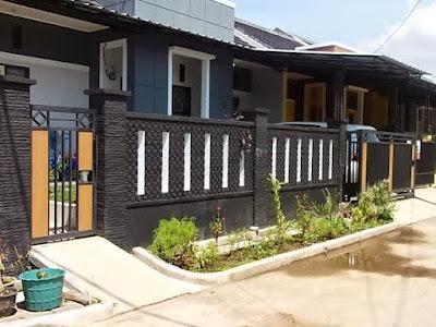 Desain Pagar Batu Alam Rumah Minimalis Modern