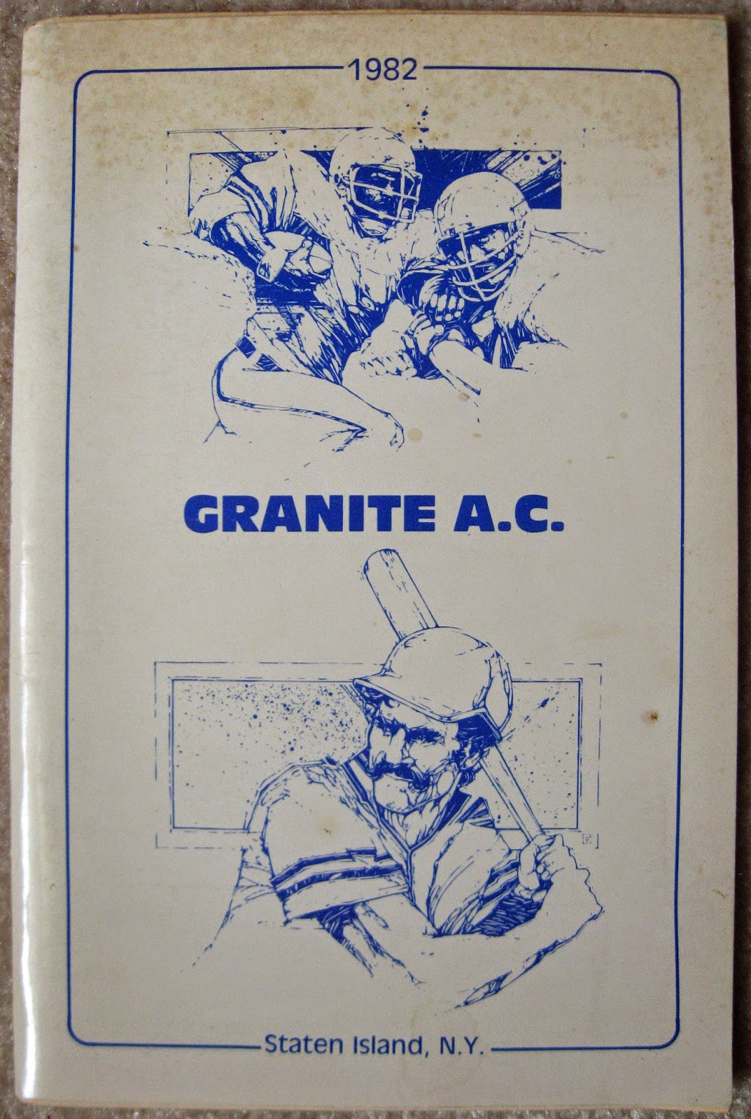 Granite A.C. Booster booklet thanking the club and the neighborhood 1982