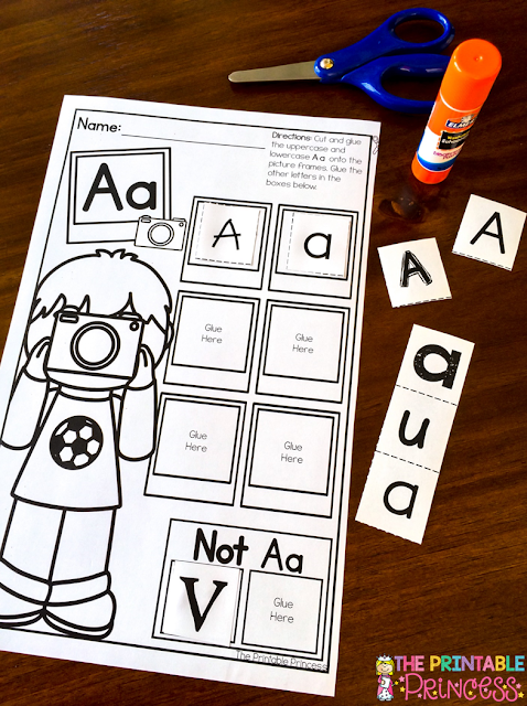Learning letters in Kindergarten is a much needed skill! This post has great ideas to keep your students engaged in their letter learning in a fun way. Click through to learn more about alphabet books, singing, dancing, hand motions, letter sorts, letter books, using magazines, letter spinners, letter hunts, matching letters, and more! Plus you can even download a great FREEBIE! Click through now to see how well this will work in your Kinder classroom or homeschool today!