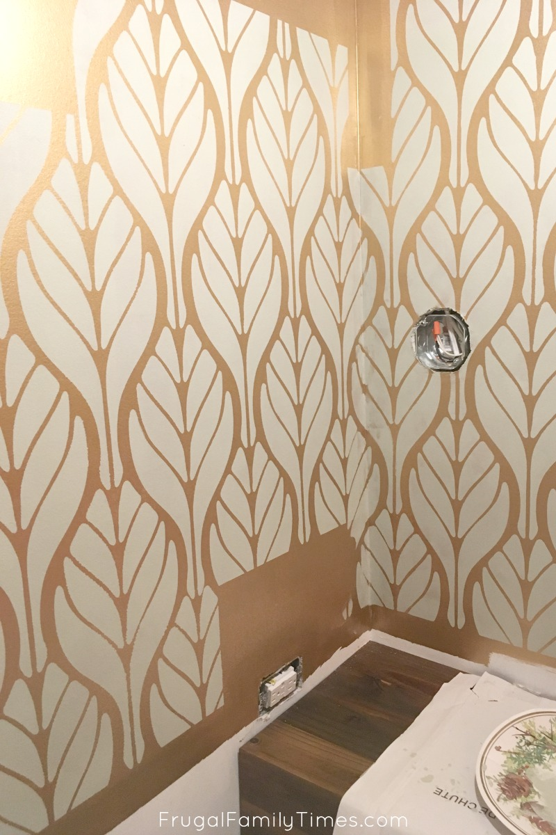 Metallic gold and soft green walls a diy paint alternative to corners need touch ups some other spots will too accept this as a fact and youll be less frustrated amipublicfo Choice Image