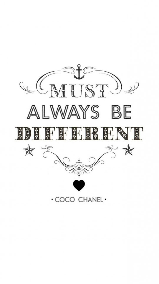 Must Always Be Different Coco Chanel  Galaxy Note HD Wallpaper