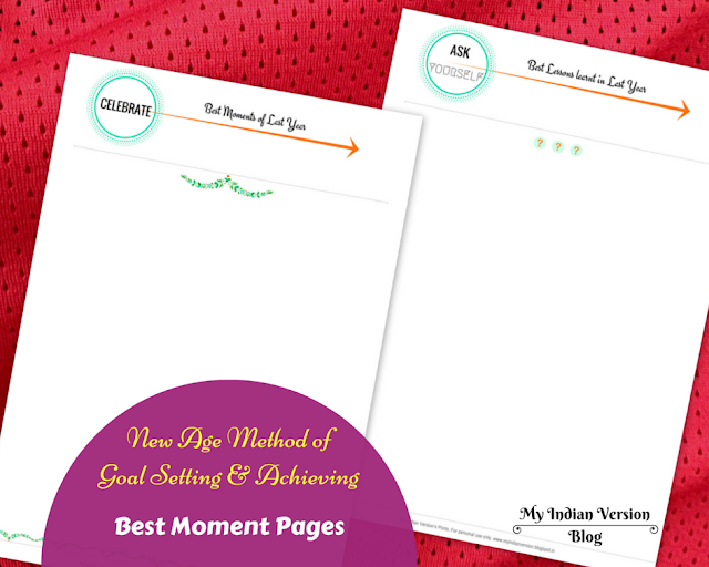 Goal setting and achieving - Best Moments Printables