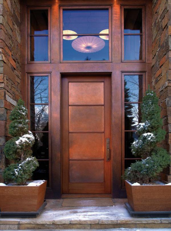 Hogares Frescos 30 Disenos Inspiradores Para La Entrada Principal - Puertas-entrada-principal