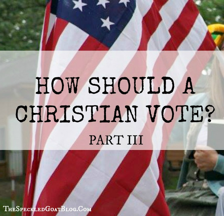 how should a christian vote presidential election voting evangelical church jesus