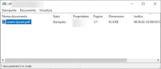 Documenti stampati