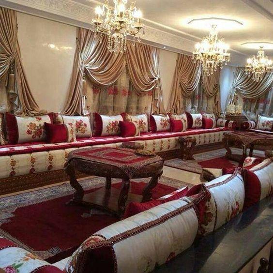 galerie luxe de salon marocain moderne - decorationmarocains