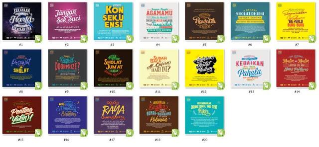 Download Tipografi keren islami dakwah kata-kata bijak