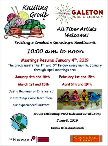 1-18 Knitting Group, Galeton Library