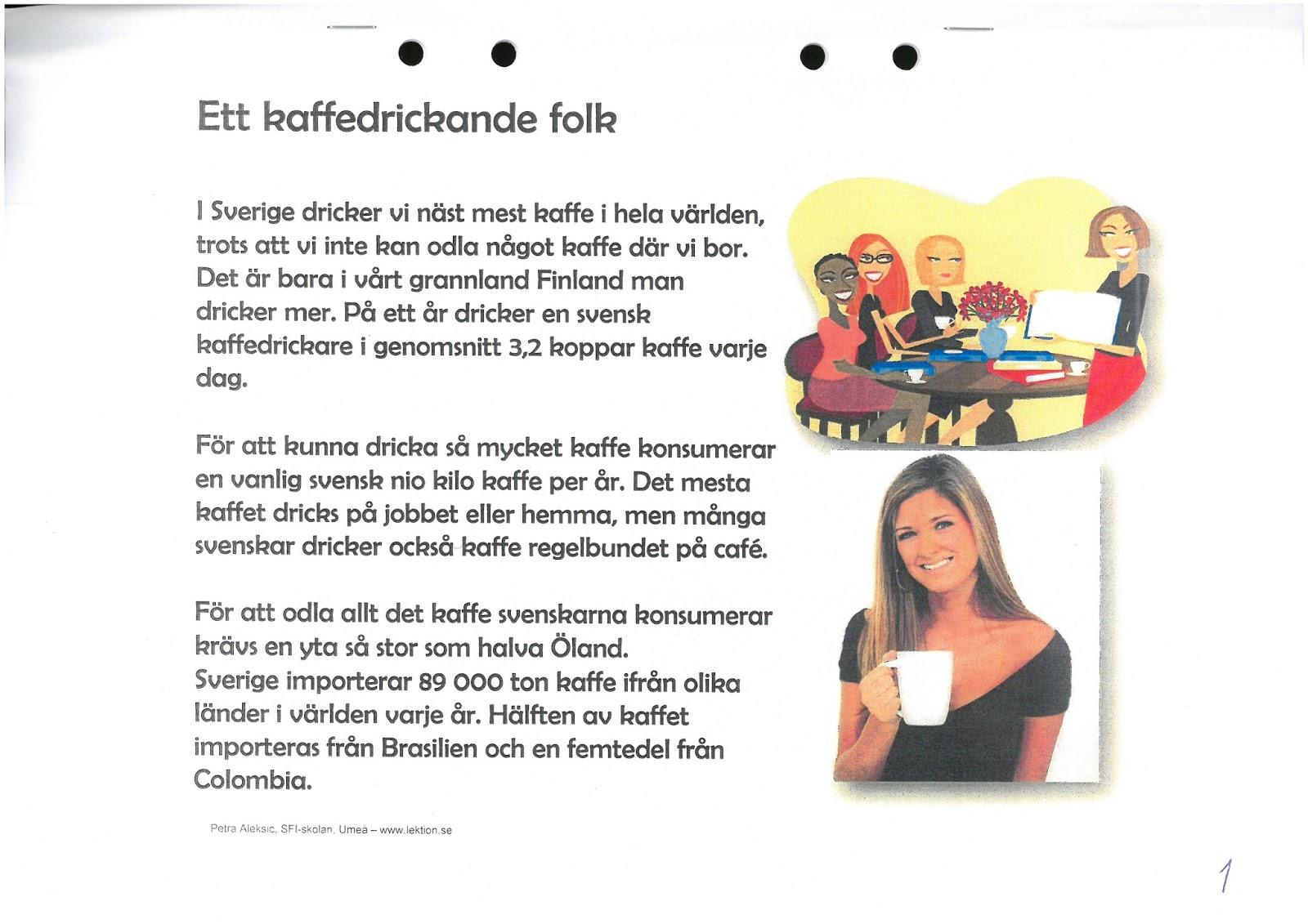 hur mycket kaffe dricker svenskar