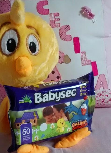 Publidica, Babysec, Toalhinhas Umedecidas, Galinha Pintadinha,