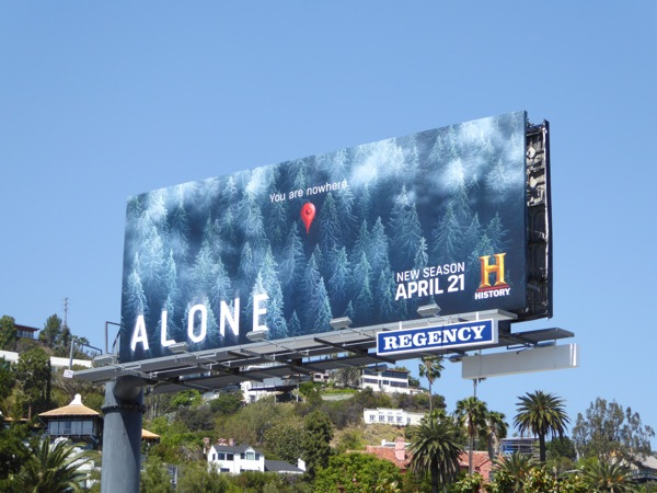 Alone season 2 TV billboard