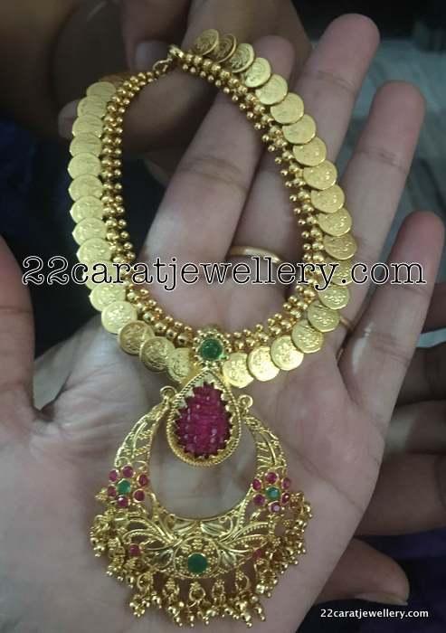 Kasu Necklace with Detachable Locket