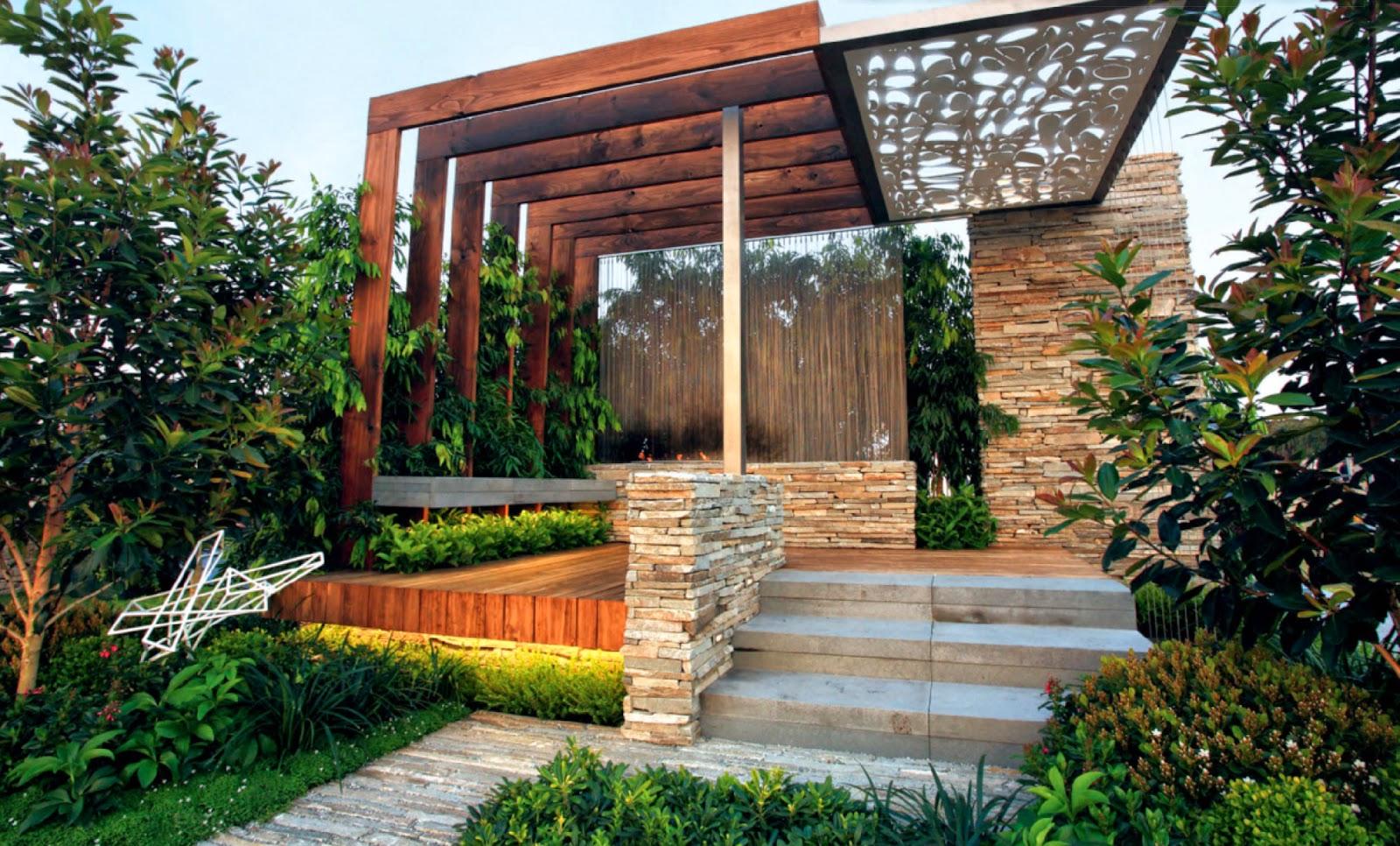 modern residential landscape design the image kid has it. Black Bedroom Furniture Sets. Home Design Ideas