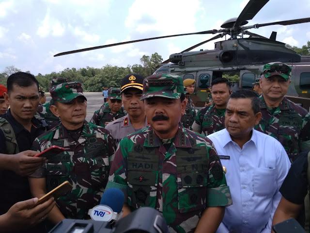 TNI Tambah Pasukan Untuk Menjaga Titik Api di Lokasi Karhutla Riau